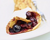 Pancake with blueberry filling