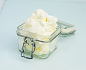 Whipped cream in a preserving jar
