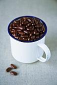 Kidney beans in a mug