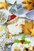 Christmas biscuits, cutter and decorations