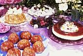 Summery dessert buffet