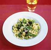 Orecchiette with purple sprouting broccoli