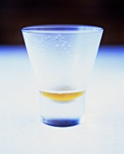 Glas mit Bier-Rest