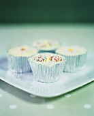 Cup-cakes in silver cases