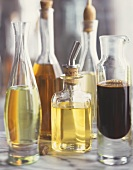 Still life with various types of oil and vinegar