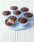 Jaffa cake muffins with chocolate topping