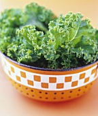 Kale in a strainer