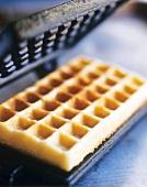 Waffle with waffle iron