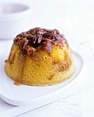 Sticky toffee and walnut pudding (UK)