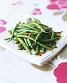 Green beans with chilli