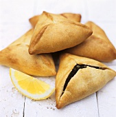 Samosas (small pasties with spicy filling, India)