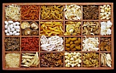 Chinese spices and ingredients in typecase