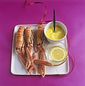 Norway lobster with saffron aioli