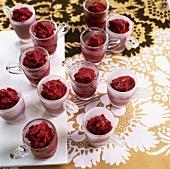 Mixed berry granitas