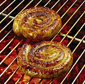 Grilled Cumberland sausages (Coiled sausages, England)