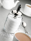 Sugar dispenser, tea, teaspoon