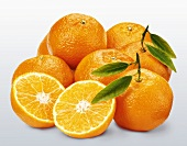 Clementines, one halved