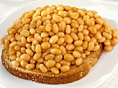 Baked beans on a slice of wholemeal toast