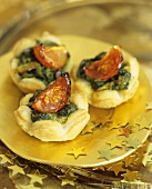 Spinach and ricotta puff pastry tarts