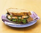 Prawn sandwich in wholemeal bread