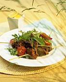 Shish kebabs (Grilled lamb kebabs, Arab cuisine)