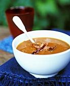 Pumpkin soup with ham