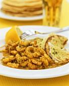 Prawn korma (Prawns in curry sauce, India)