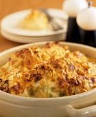 Crispy baked cauliflower gratin