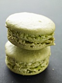 Pistachio macarons (Small French cakes)