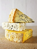 English cheeses: Stilton, Blue Vinney and Blue Shropshire