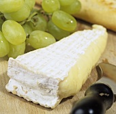 Brie de Meaux (soft French cheese) with grapes