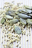 Pumpkin seeds and caraway seeds