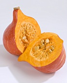 Hokkaido pumpkin, halved
