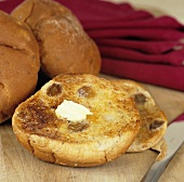 Buttered toasted teacake