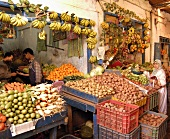 Fruit and vegetables on a Moroccan market stall