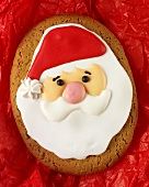 Gingerbread decorated with Father Christmas head