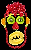 Face made from fruit