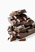 Dunkle Schokoladenstücke