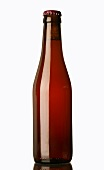 An unlabelled bottle of beer
