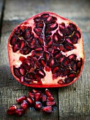 Pomegranate, cut open