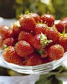 Bowl of fresh strawberries