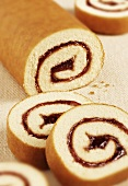 Swiss roll with raspberry jam filling