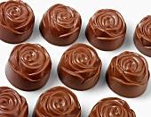 Flower-shaped chocolates