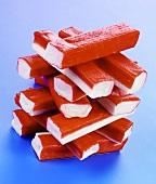 A stack of surimi sticks