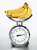 Bananas on kitchen scales