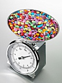 Smarties on kitchen scales