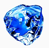 A blue ice cube