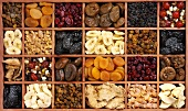 Dried fruit in a typesetter's case