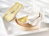 Two French soft cheeses