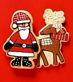 Pastry Father Christmas and reindeer
